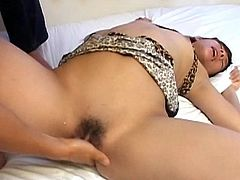 Asian honey finger fucked
