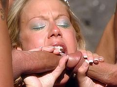 McKenzie Lee goes wild in Lanzarote. She takes on two, with anal gaping and facial