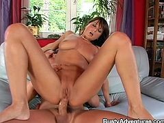 Kate Sohes is a big breasted brunette with stunning body and great figure who is going to get her pussy fucked very nice and her ass toyed.