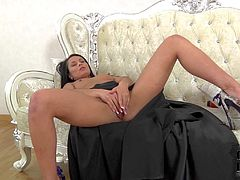Kristall Rush is a sexy bodied brunette who shows her naughty bits and masturbates. Brunette with tiny hard nipples spreads her buttoks and demonstrates her lovely pussy with no shame. Watch her rub her clean pussy.