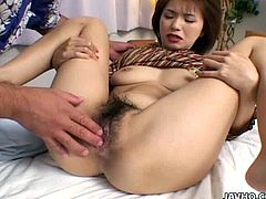 If you are into hairy cunts you would probably like this one. Seems like she has never shaved it in her life. She gets fingered intensively so she groan loud. Enjoy watching this video made by Jav HQ.