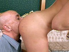 Fantastic European babe Kathia Nobili gets eaten from behind
