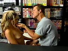 This old timer director has shot some of the hottest, fastest action in the business and wants this sexy blonde to show him why he should put her in a flick and she puts on the hottest sex show he's ever seen.