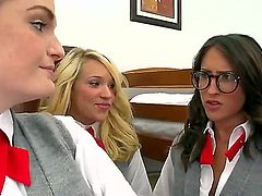 Faye Reagan, Lily Carter, Lizz Tayler and Teagan Summers are having group sex with two lucky fellows Voodoo and Xander Corvus. Hotties exposing delights first of all, before fuck.