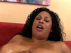 White guys love to fuck BBW ebony chicks like Delilah Black. She is about to ride that boner and take it deep inside of her meat hole which is craving for action!