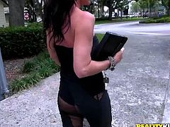 Her name means sun, in French and she's hotter than the sun! This tall buxom brunette looked to be in dire need of a man. More than that, she needed her pussy fingered and licked good. But after that, she was more than willing to show what she's capable of doing to a man!
