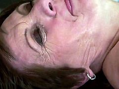 Granny Piros as hairy and naughty as always is doing her thing again, doing a spectacular blowjob for a young man and having her naughty but still juicy pussy licked and fucked hard.