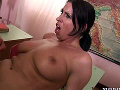 Mandy invited Lisa and Maddy with their husbands to a school event. They took a detour and headed to an empty classroom. Mandy was the first person to get nude. Look at this husband as he does not feel shame to fuck his wife in front of his neighbors. They switch partners and have a good gangbang