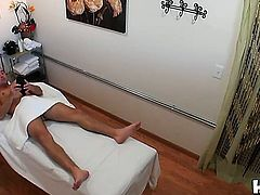 Asian girls like Katreena Lee love to use their hands in order to make guys relax. She is riding his hard dick as well which is a massage for her tight cunt.