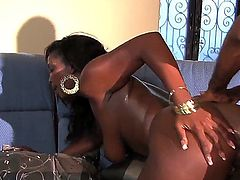 Here is the porn story with nauhty and so seductive ebony bitch Aryana Starr! Witness her having nice screw with chocolate thug. He bangs mouth and twat of the goddess.