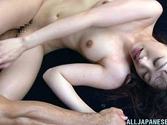 Playful Risa Mizuki rides a dick and gets fingered deep