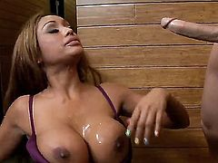 Our well knows and hot Indian Porn-star Priya Anjali Rai is doing a spectacular and delicious blowjob as always while showing her marvelous and huge boobs that are created for a tit job.