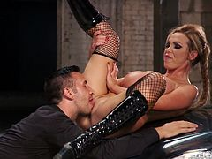 Busty blonde likes to get nasty when having huge cock drilling her