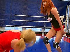 Right now you are going to see how two rough lesbians are fighting and fucking at the same time. Safira White knows how to win Mai Bailey, because she has a secret weapon - shaved pussy