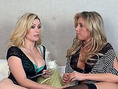 Everything you should do - is to take a look at this interview with Heather Vandeven and second blonde diva. Both gals look amazing in their so sexual tiny outfits.