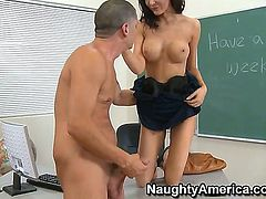 I have always wanted to have hardcore sex with my teacher and this is the chance to fuck one of the hottest teachers. Her name is Diana Prince and she is fantastic.
