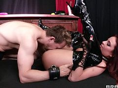 Ashley is about to be initiated into a underground order, but to do so she must first prove she can shoot her pussy juice everywhere with only the help of a vibrator. Watch as she gets fingered by the cult leader and she her lady jizz fly.