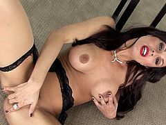 Kirsten Price is a passionate brunette bombshell with wonderful tits and perfect body! She loves to masturbate on camera! Today she will show it to you!