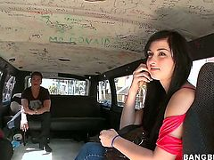 On Bang Bus, you can always see some new girls who are more than ready to have some fun with well hung guys. Mandy Sky is one of them and she is horny today...