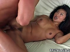 Cute anal scene with Asian babe Lucy Lee