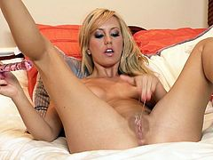 Dude, you'll be a dull one if you pass by this incredibly hot Twistys solo sex clip. Appetizing and kinky blond nympho plays with her boobs till the nipples are fist. Then voracious chick stretches legs wide for pleasing her wet shaved pussy and groans of pleasure at once.