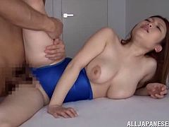 Amazing Japanese chick with pretty face sucks a cock with pleasure. Then she gets her vagina licked and fucked hard.