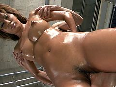 Ardent and mesmerizing Japanese brunette Juri Sawaki enjoys being fed with cum. So this chick turns erotic massage into a stout blowjob. I envy this lucky dude, cuz blowlerina with sweet tits is hot like hell.