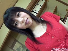 Well, even though this Japanese brunette has small tits and is rather pale, she's still charming. Besides whorish nympho has shaved her pussy cuz she's more than ready to be fucked today. Dude, why not to join her for a nonstop sex till the dawn?