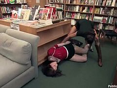 Smoking hot and amazing babe Amber Keen gets tied up by this sexy bitch in the library. Then other dudes take her away and fuck her snatch in the van.
