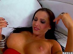 It is a little bit hard to find brunette models who are as hot as delicious Jenna Presley. She is using her sexy feet in order to make his penis rock hard in no time.