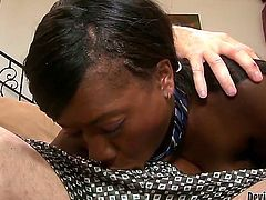 This is what happens when a black girl spends a couple of days in the white family. Jessica Grabbit just had to try his hard older experienced dick and take it deep!