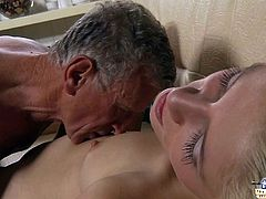 Young girl sucks old dick
