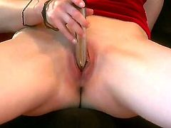 Diane Deluna is a classy broad and a classicist. She loves her old-school vibrator and she is showing us how she makes herself cum all classy and in fancy outfit with that old toy of hers.