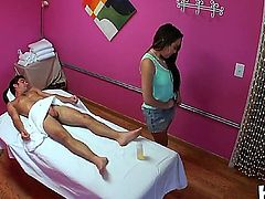 Lily Lust gives amazing masdsage to this guy and pleases him well with oral