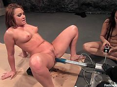 If you like fucking machines, well you'll love this amazing scene where this sexy babes has more many orgasms with the help of a machine.