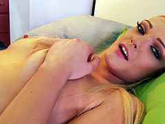 Busty blonde hottie Zoey Paige loves to pose and masturbate on camera. She exposes her nice tits and pussy for you and pleases herself with hot pussy fingering.