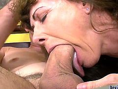 Alexandra Silk is giving her new man Paul Carrigan a great bj while he is sucking on a toy as well. She really works on his wang and then gives him a ride and you just know he is waiting for something.