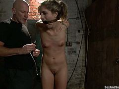 Kara Price gets her mouth and snatch fucked hard in BDSM vid