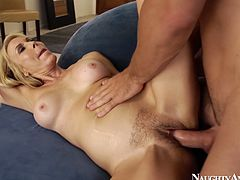Amazing mature filth Erica Lauren gets totally absorbed with sucking a dick