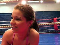 Angel Rivas prefers to dominate and today she fighting with her lesbian friend, Niky Gold. Moreover, she wants to be penetrated like a dirty whore and Niky makes her wish come true