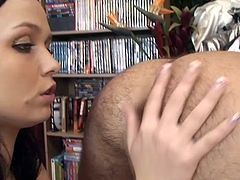 What starts out as a rimjob eventually turns into a full on ass ramming. Ally Style knows her boyfriend Richy craves cock so she puts on a strap on and fucks his tight little hole extremely hard. He enjoys being butt fucked.