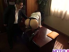 Ichika Kuroki is a sexy Japanese who lets her boss fill her up and admire her perfectly round ass.