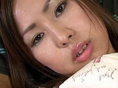 Aroused dude holds legs of sextractive Japanese hussy wide while another wanker polishes her hairy twat with insatiable tongue in steamy threesome sex video by Jav HD.