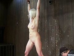 Lorelei Lee is the cute blonde featured in this BDSM video where she gets bound and tortured for your twisted pleasure.