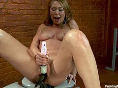 Brynn Tyler Finds Pleasure With A Machine