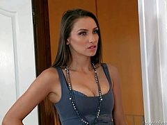 Attractive blonde and brunette girlfriends Anikka Albright and Celeste Star with hot bodies and pretty face get aroused and make out in bedroom in arousing softcore fantasy filmed in close up