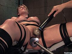 Watch Harmony get iron pounded in her pussy over and over while she is stimulated with a vibrator. This MILF is a moaner, so things are about to get noisy!