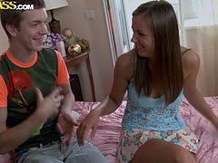 Tasty Russian hussy Zena welcomes a rimjob in doggy style