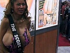 Here is a clip of the big boobed korean legend Minka at the AVN Expo in 2004. All the silicone on an Asian babe you'd ever want! A fun little clip to buffer those steamy ones.