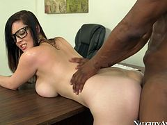 Dirty college student Noelle Easton is fucking her teacher hard